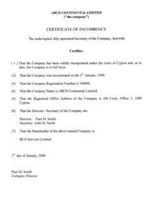 сертификат об адресе