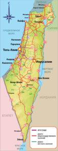 Карта дорог Израиля