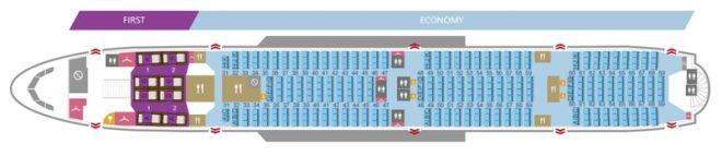 Нижняя палуба Airbus А380