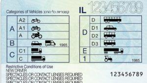 водительские права нового образца в Израиле 2