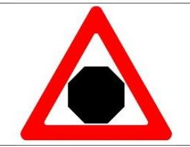 предупреждение о приближении к зоне действия знака «Стоп»