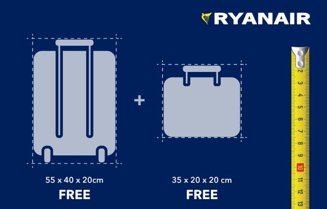 Правила перевозки ручной клади и багажа в Ryanair