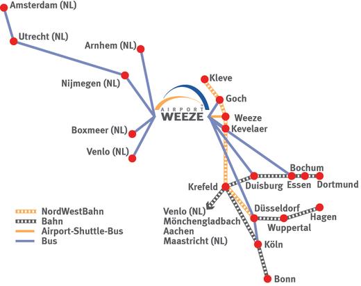 как добраться в аэропорт Weeze Дюссельдорф