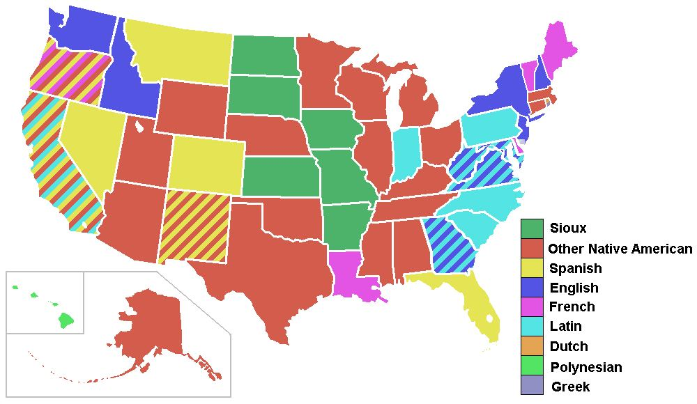 Какие языки бытуют на территории США