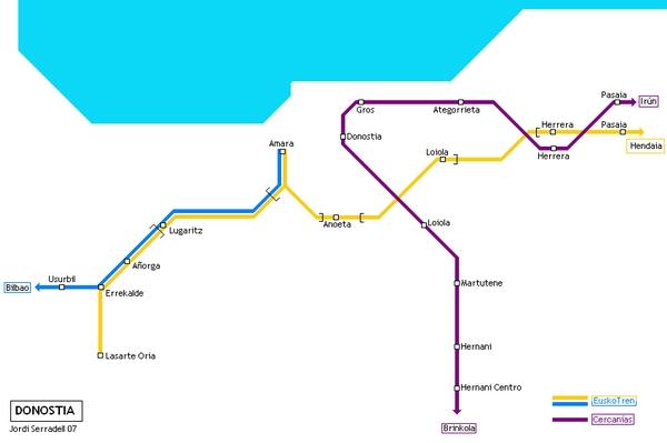 Схема метро Сан-Себастьян