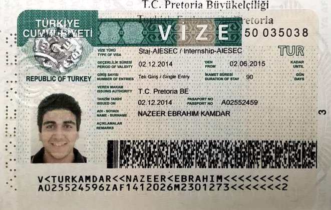 виза для русских в Турцию