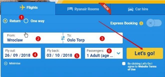 Бронирование билетов на рейсы Ryanair