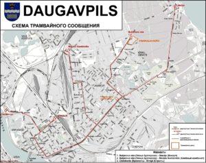 Трамвайные линии в Даугавпилсе