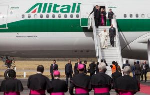 на борту авиакомпании Alitalia