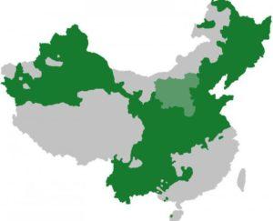 карта распространения мандаринского языка