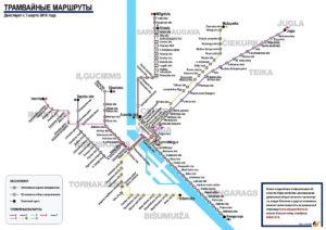 Трамвайные маршруты Риги