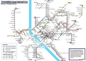 Тролейбусные маршруты Риги