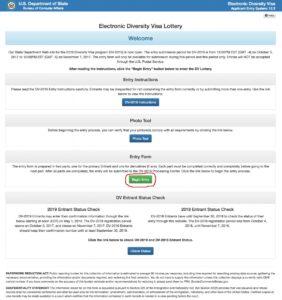 онлайн-регистрация на грин-карту