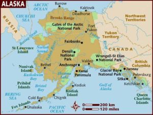Географические условия и климат на Аляске