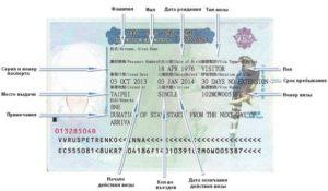 как оформляется виза в Тайвань