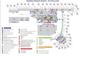 Схема 2 терминалов аэропорта Ататюрк