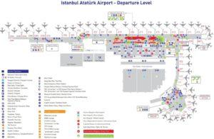 Схема терминалов аэропорта Ататюрк