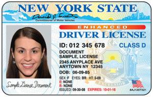 водительские права США с цветной фотографией