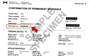 Confirmation of Permanent Residence