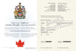 Cetificate of Canadian Citizenship