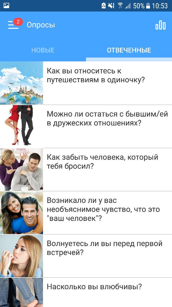 Опросы на RusDate