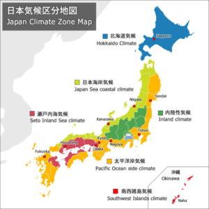 климатические зоны Японии