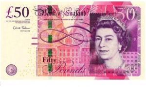 Банкнота 50 фунтов