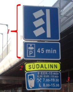 знаки парковки в Таллине
