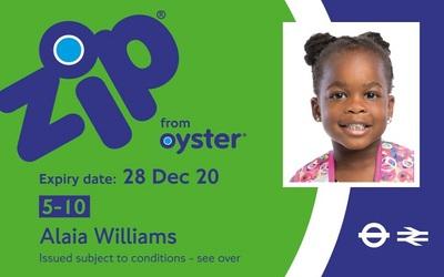 Oyster Card с фото ребенка