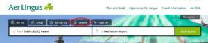 Как зарегистрироваться на рейс Aer Lingus онлайн