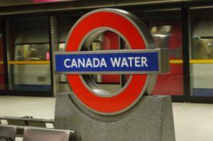 Пример названия станции метро в Лондоне