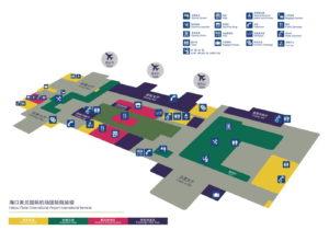 схема аэропорта Хайкоу