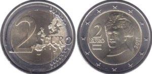 Монеты евро в Австрии